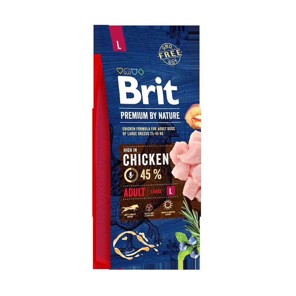 Каталог Корм для собак крупных пород, Brit Premium by Nature Adult L 69991.png