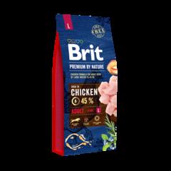 Корм для собак крупных пород, Brit Premium by Nature Adult L