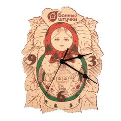 Часы «Матрёшка» 18,5х24х0,3 см