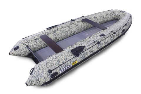 Надувная ПВХ-лодка Солар - 520 Strela Jet Tunnel (пиксель)