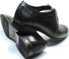 Туфли под брюки мужские дерби Ikoc 060-1 ClassicBlack.