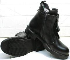 Молодежные осенние ботинки женские демисезонные Tina Shoes 292-01 Black.