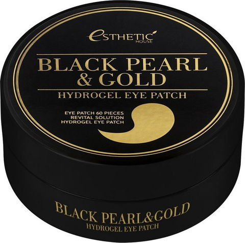 Гидрогелевые патчи для глаз ЧЕРНЫЙ ЖЕМЧУГ/ЗОЛОТО Black Pearl&Gold Hydrogel EyePatch, 60 шт, ESTHETIC HOUSE
