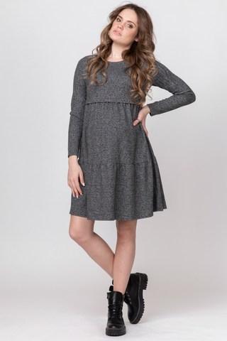 Платье для беременных и кормящих 10100 серый