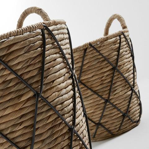 Комплект корзин Maja натуральный, черный