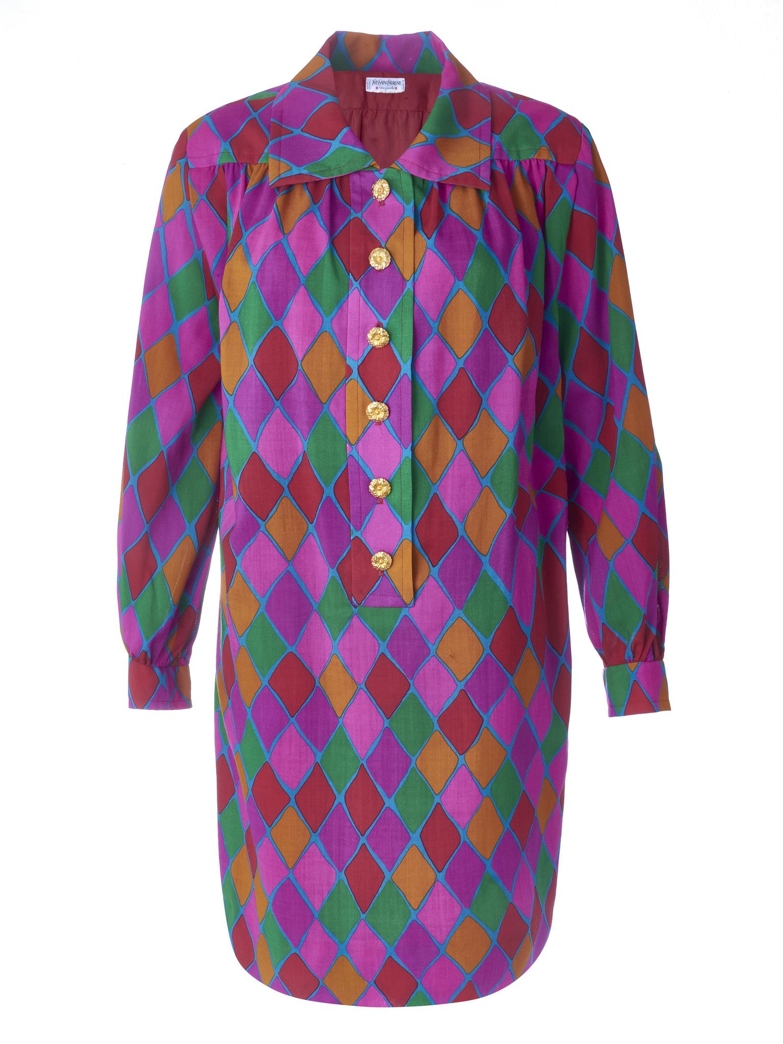 Платье YSL «Арлекин» 1980-е