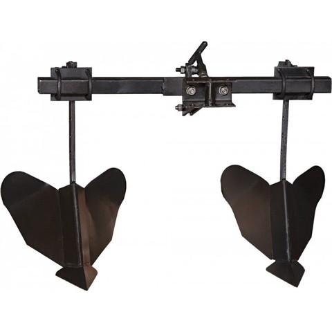 Двойной распашник на траверсе мотоблочный Кадви РМ-1