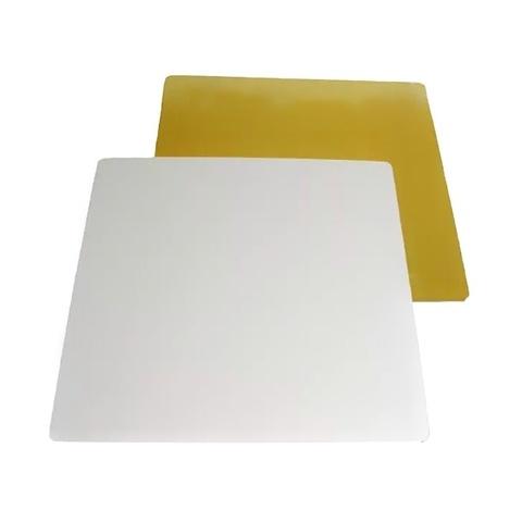 Подложка усиленная 2.5мм. (золото/белая)  20х20см.