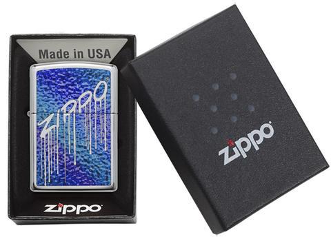 Зажигалка Zippo Classic с покрытием High Polish Chrome, латунь/сталь, серебристая, 36x12x56 мм123