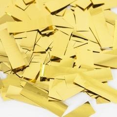 Конфетти фольга Прямоугольник, Золото, Металлик, 3,5 см, 50 г, 1 уп.
