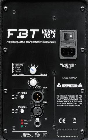 Акустические системы активные FBT Verve 115A
