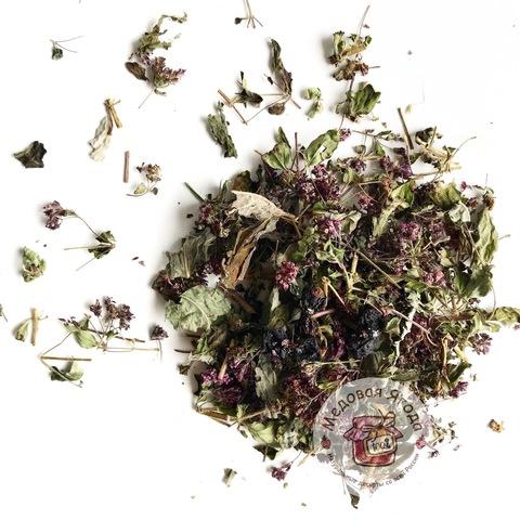 Травяной чай. Чёрная смородина, мята, душица