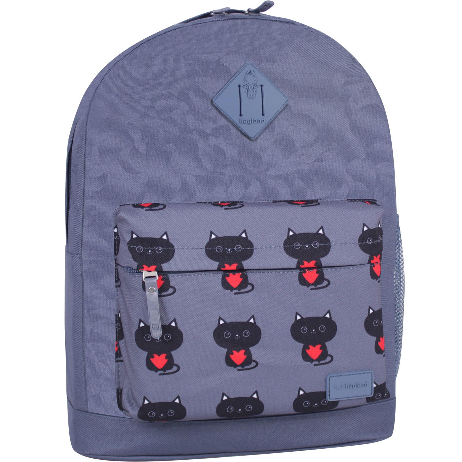 Городские рюкзаки Рюкзак Bagland Молодежный W/R 17 л. Серый 750 (00533662) IMG_6457_суб.750_-1600.jpg