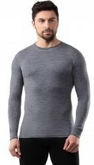 Кофта мужская Norveg Soft Woolmark, серый меланж