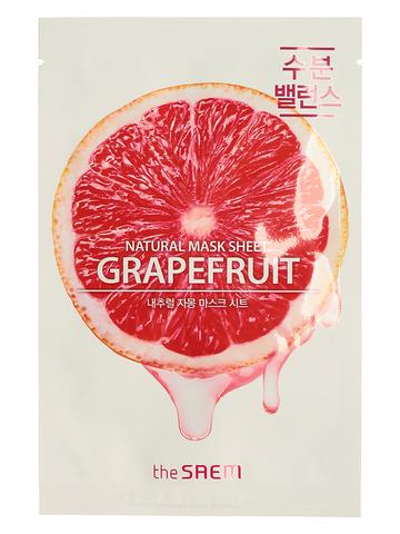 СМ Маска на тканевой основе для лица N с экстрактом грейпфрута  Natural Grapefruit Mask Sheet 21мл
