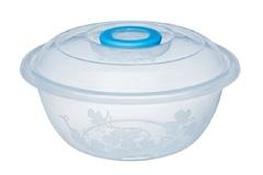 Таз мерный Изобилие 11 литров / контейнер для хранения 39,5 см прозрачный с крышкой Эльфпласт