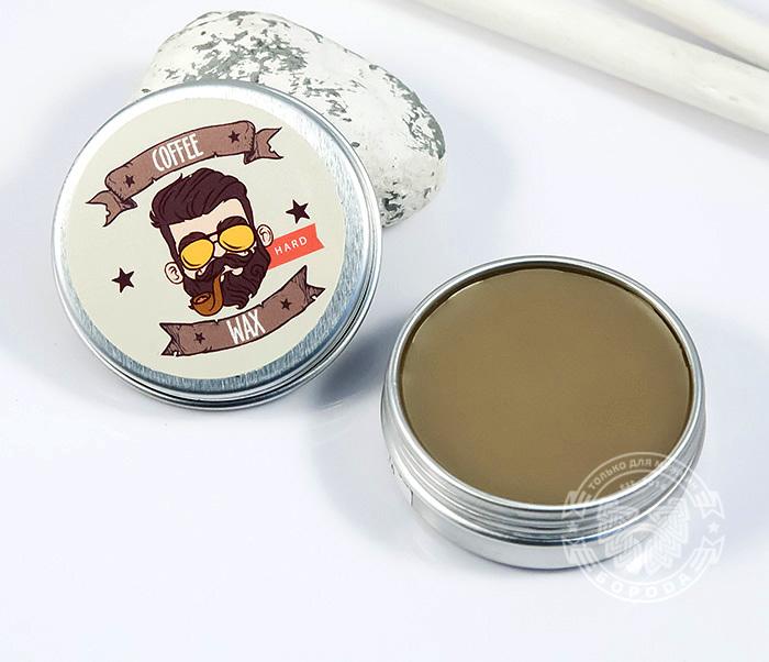 RAZ192-2 Воск для усов Borodist «COFFEE» с сильной фиксацией, кофейный аромат (13 гр) фото 03