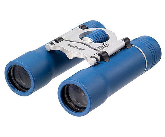 Легкий туристический бинокль Veber БН 10 25 сине-серебристого цвета