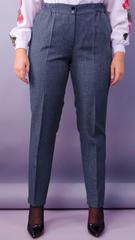 Елія льон. Жіночі батальні брюки в класичному стилі. Синій.