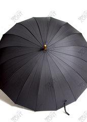 Мужской зонт трость полуавтомат черный