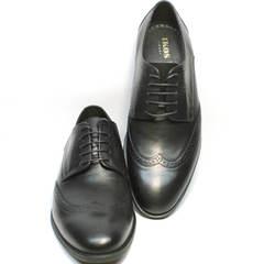 Черные туфли на шнуровке мужские Ikos 1157-1 Classic Black.