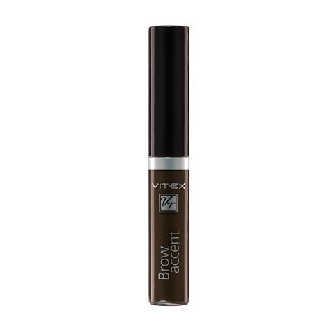 VITEX Гель оттеночный для бровей BROW ACCENT тон 04 Серо-коричневый 5мл