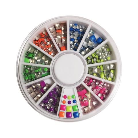 Клепки для дизайна разноцветные микс купить за 175руб