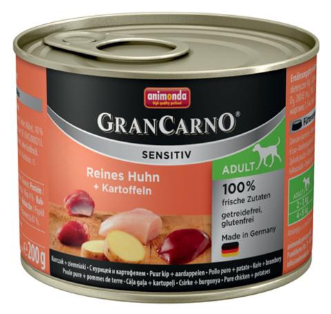 Консервы Animonda Gran Carno Sensitiv c курицей и картофелем для собак с чувствительным пищеварением
