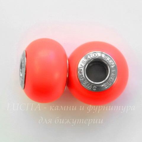 5890 Бусина Сваровски BeCharmed Pearl Crystal Neon Red 14х10 мм