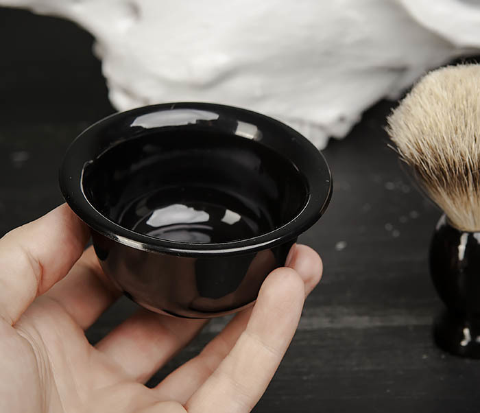 RAZ433 Деревянный помазок для бритья и чаша фото 05