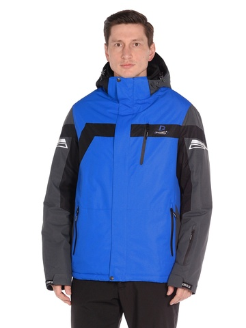 Горнолыжная мужская куртка BATEBEILE синего цвета.