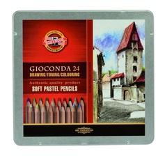 Карандаши пастельные GIOCONDA SOFT 8828, 24 цвета