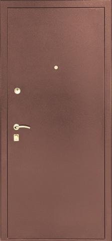 Дверь входная S-2 стальная, миланский орех, 2 замка, фабрика Арсенал