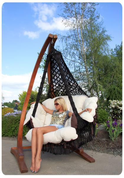Подвесные кресла Подвесное кресло качели Cartagena с подушками cartagena_черный_4.jpg