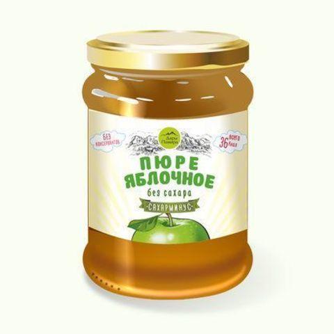 Пюре яблочное без сахара, 250 г