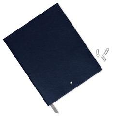 Записная книжка А4 синего цвета, линованные страницы