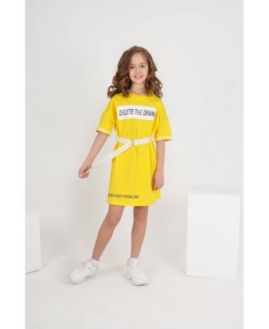 Платье жёлтое детское трикотажное