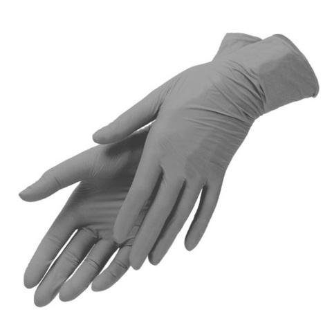Перчатки нитриловые серые 100 шт