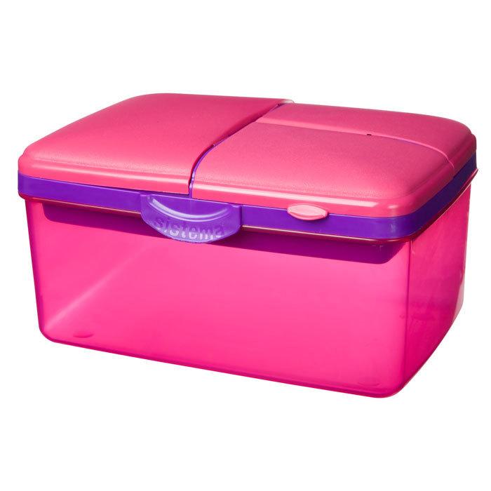 """Ланч-бокс с бутылкой Sistema """"Lunch"""", 4 секции, 2 л, цвет Розовый"""