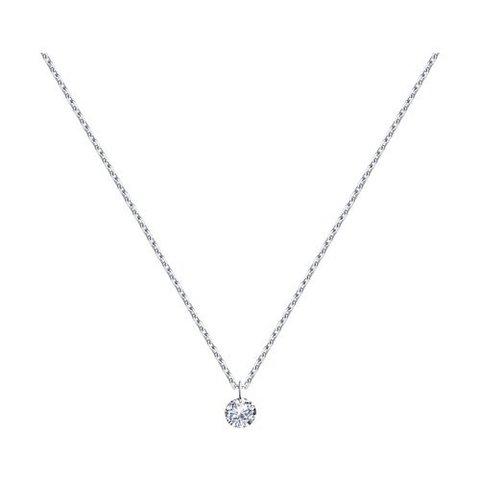 92221- Циркон бриллиантовой огранки без оправы на цепочке из серебра
