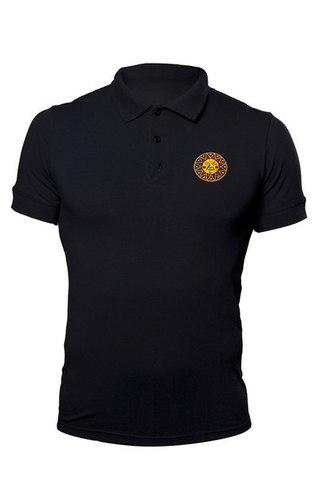 Black polo shirt