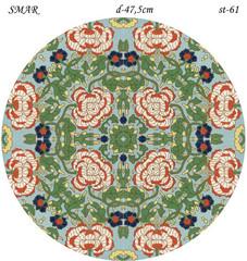 Эскиз для росписи, Круг диаметр-47,5см, SMAR-st-61