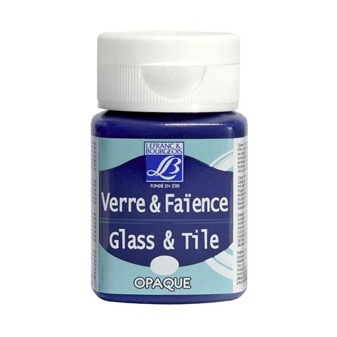 Краска по стеклу и керамике Lefranc&Bourgeois Glass&Tile 50 мл, прозрачная 629, восточный фиолетовый