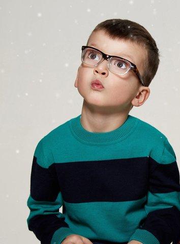 Джемпер в сине-зеленую полоску