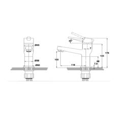 Смеситель KAISER Indivi 49011 для раковины схема
