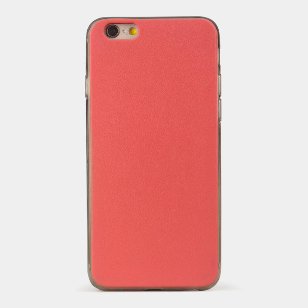 Чехол-накладка для iPhone 6/6S из натуральной кожи теленка, кораллового цвета
