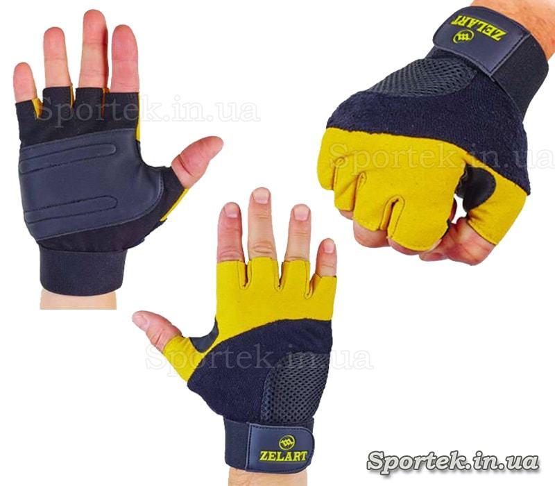 Кожаные перчатки Zelart Gel Tech BC-3611