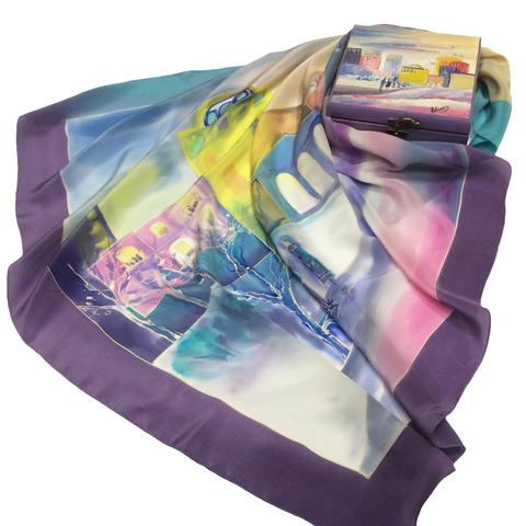 Шкатулка расписная Пломбир фиолет