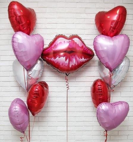 Сет воздушных шаров Губки в сердцах