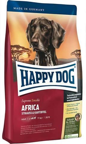 12.5 кг.  HAPPY DOG - Сухой корм для собак всех пород с мясом страуса - Supreme Sensible Nutrition Africa